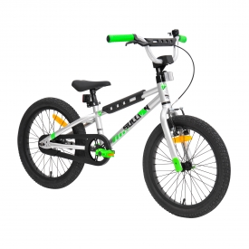 18″ Sullivan Safeguard Boys Bike Silver/Green/Black